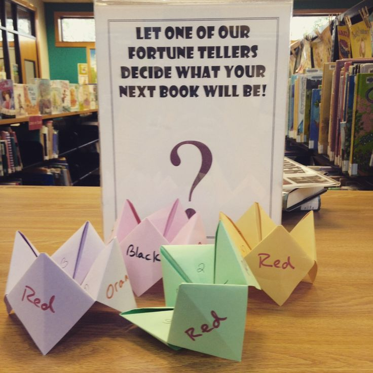 Can't decide what to read next? Pick up one of our future tellers and they'll make the decision for you!