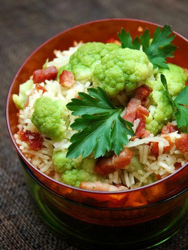 Chou-fleur au riz - Recette de cuisine Marmiton : une recette