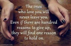 there is no reason to give up