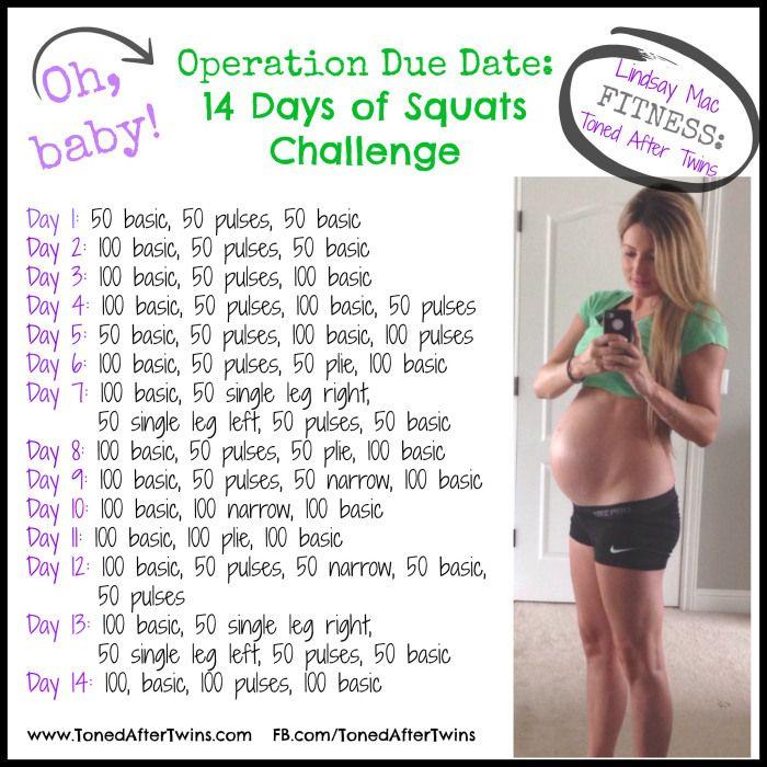 Pregnancy Squat Challenge http://www.naturalenhancementblog.com