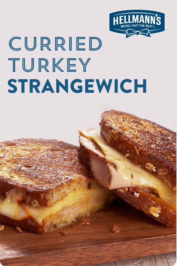 Part turkey, part grilled cheese, with curry mayo bringing it all together. Great sandwich for leftovers. Click through for full recipe.