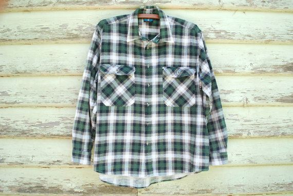 Vintage 90s Plaid Shirt Grunge Fashion Flannel by GamineRagVintage