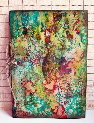 Gorgeous mixedmedia project by Siwka using leaf stamp from 3rd Eye <3 http://3rdeyecraft.com/ <3 #stamping #stamp #craft