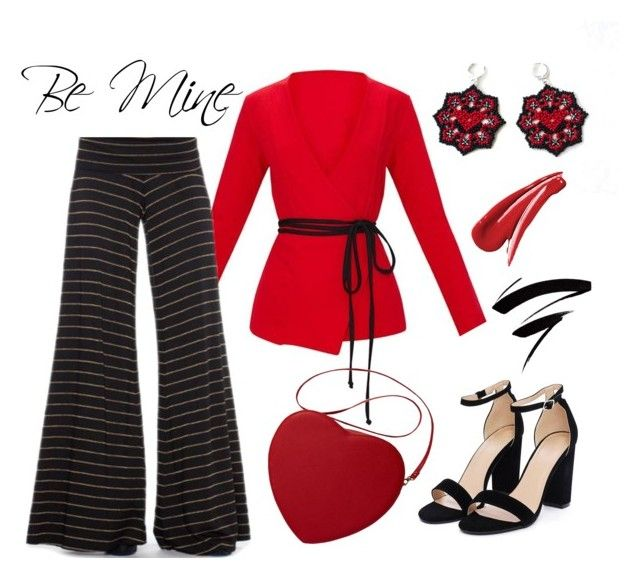 """""""Be Mine - Valentine's Day outfit idea"""" by ninecarpstudiostore ❤ liked on Polyvore featuring Saint Grace and Nasty Gal"""
