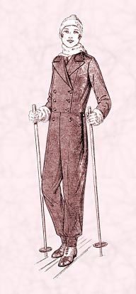Skiing Clothes of 1930