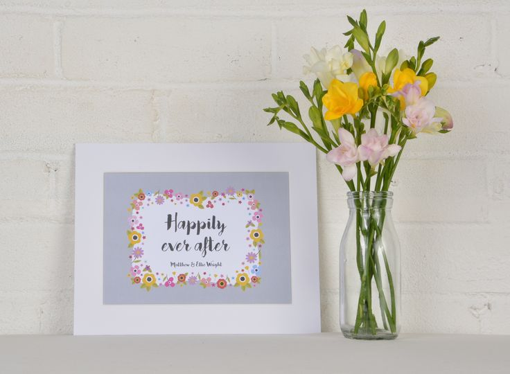 Personalised Wedding Print – Happily ever after