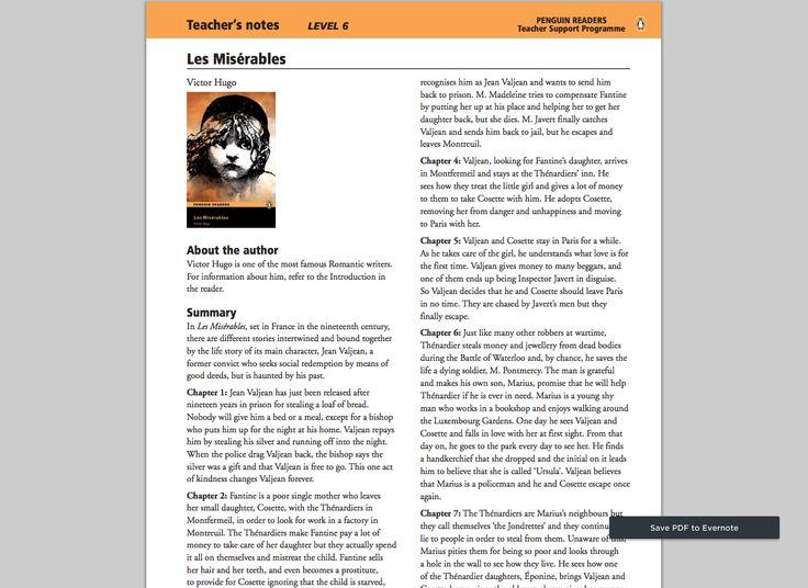 les miserables summary pdf