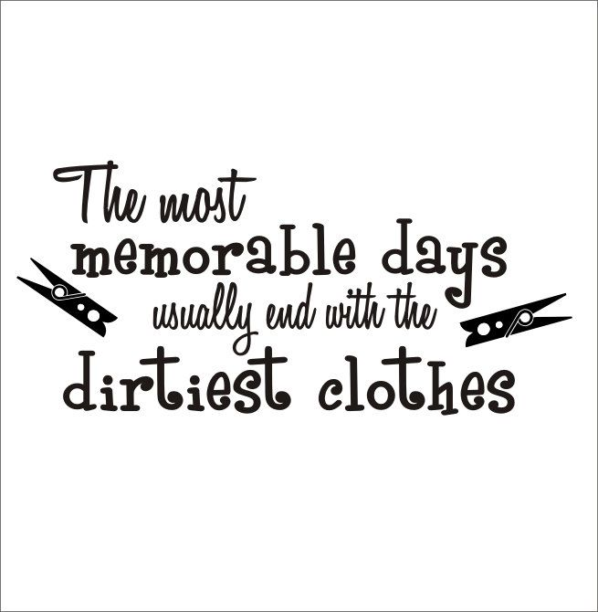 Laundry Wall Decal Housewares Large Dirty Clothes Wall Decal Laundry Room Decor. $29.00, via Etsy.