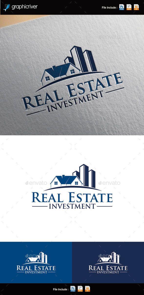 Real Estate Investment Logo Template Cartão de visita