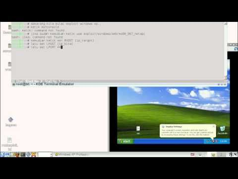 how to metasploit windows xp with linnux