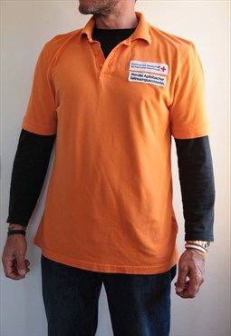 HAKRO Orange Polo shirt. Size L.  Germany