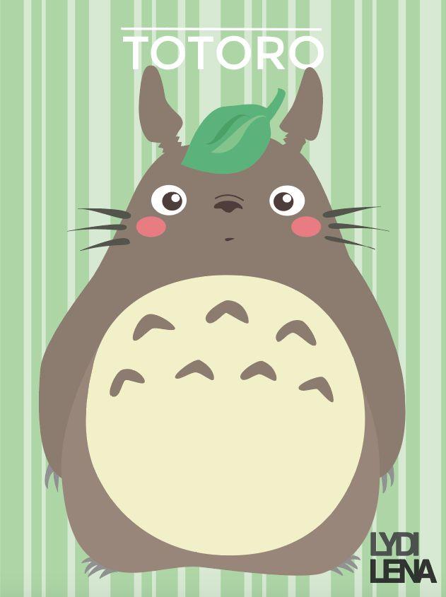 Totoro - Studio Ghibli. Fanart. on Behance by:Lydilena