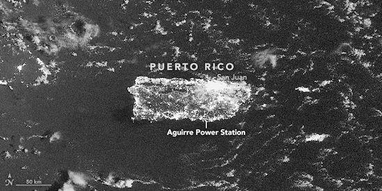 Zo zag de stroomuitval in Puerto Rico eruit vanuit de ruimte