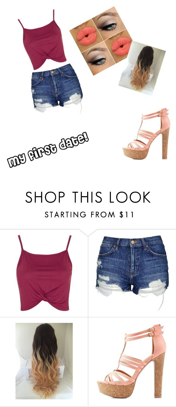 cute for a date by staceymif on Polyvore featuring Topshop and Charlotte Russe