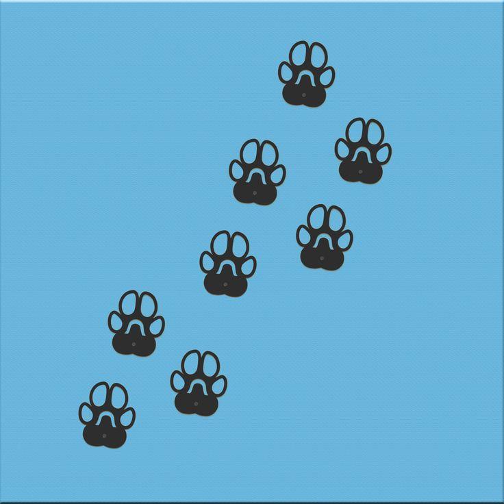 WE LOVE PETS wall hooks http://bit.ly/1wwXsZB #dog #pet #fingerprint #paws