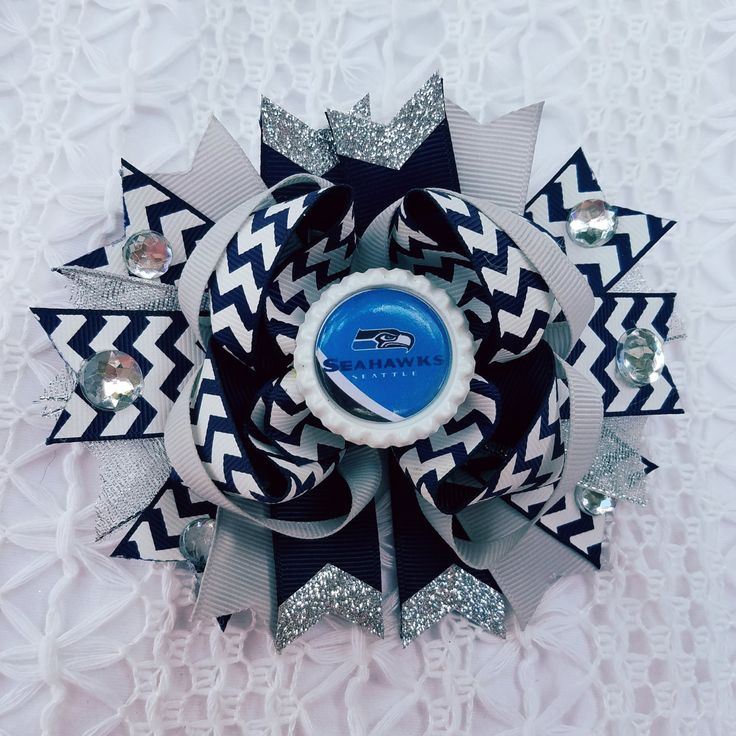 Seattle SeaHawks NFL Football Hair Bow by Tutus4Tails on Etsy