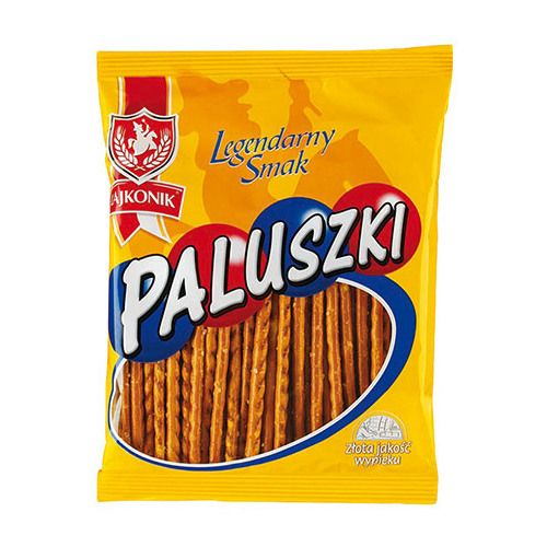 If you planning to visit Poland, don't miss the opportunity to see Kraków - Unesco's City of Literature. Beautiful City full of nice people where you can buy Paluszki (salty snacks, good to accompany beer or wine but also tasty itself). The most popular brand is called 'Lajkonik' and is also one of the unofficial symbols of the city.
