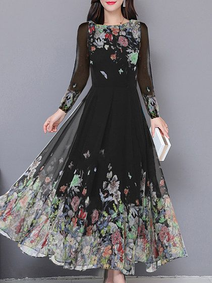 Women's Clothing Obliging 4xl 5xl Plus Size Dress Women Vintage Casual Loose Maxi Dress Floral Embroidery O Neck Two Layers Long Dress Green Vestidos 2019 Selected Material