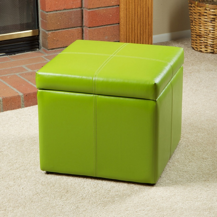 Details About Barnes Leather Microfiber Cube Storage