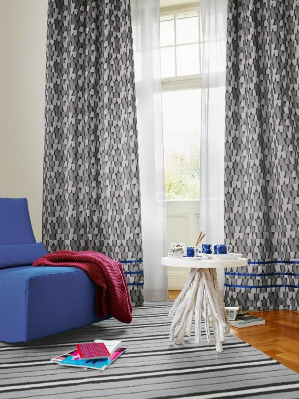 Bold Contrast And Banding For The Win! Drapery: Shades 1435, Sheers: Sieto