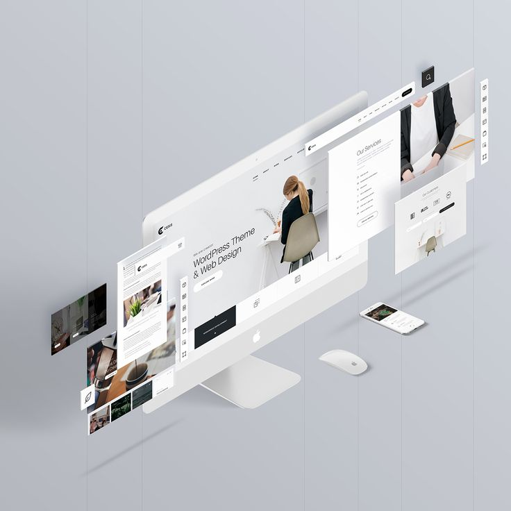 The Screens - Free Perspective PSD Mockup Template #interaction #design #UI/UX #webdesign #lstore_mockup