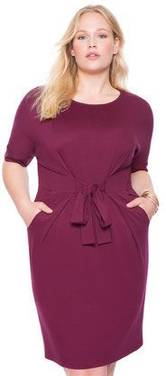Plus Size Belted T-Shirt Dress