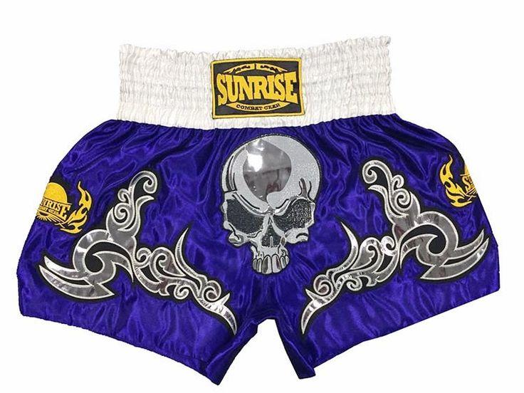 (29.08$)  Know more  - Ebuy360 Sunrise Muay Thai Boxing Shorts Men Women Skeleton Retro MMA Sanda Training Trunks Pants Shorts