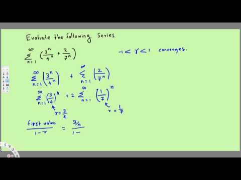 Sum of an Infinite Geometric Series, Ex 2 - Calculus