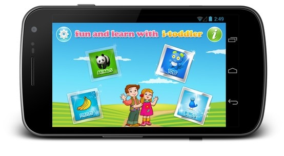A learning iToddler app for kids on Android platform.