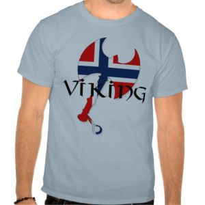 Norwegian Norse Norge Norway flag Axe Tee Shirts