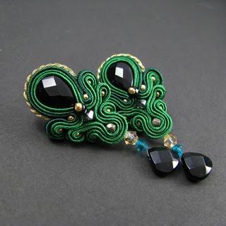 Autorska biżuteria sutasz PiLLow Design...: Zamówienia indywidualnesutasz, sutaszowa, biżuteria ślubna, soutache, ślubne, kolczyki sutasz, do ślubu, komplet