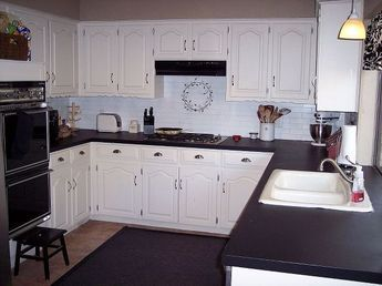 chalkboard countertops, chalkboard paint, countertops, diy, how to, kitchen design, On the second day I was excited to use the Matte Black Chalkboard Paint 1 quart I let the paint dry overnight again I woke up to beautiful stone like counters I couldn t be more pleased