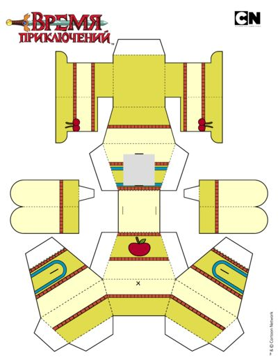 Adventure Time Paper Craft Choice Image Origami Instructions Easy