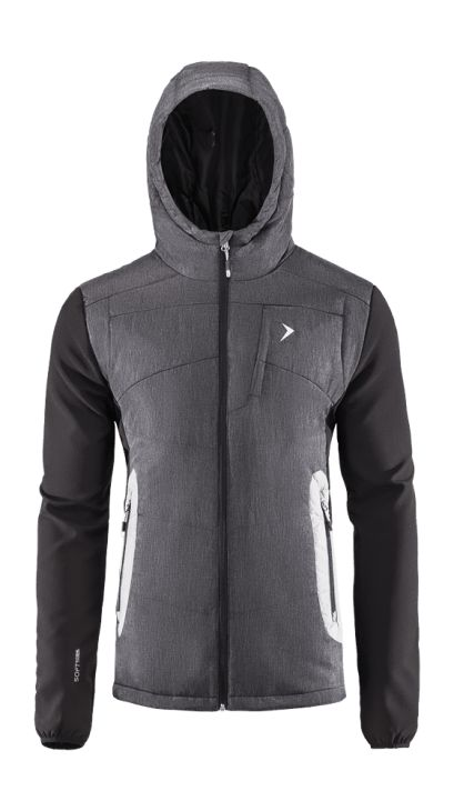 Elegant, modern style with neat trimming. Waterproof textile, protection from wind and rain. All this characterize our new men's jackets with a unique design and high functionality.   Benefits: -integrated hood -softshell sleeve added -inner pleat pocket -two side pockets and chest pocket -reflective elements, increasing visibility -Bionic Eco finishing, which provides a higher level of fabric breathability and protection against moisture