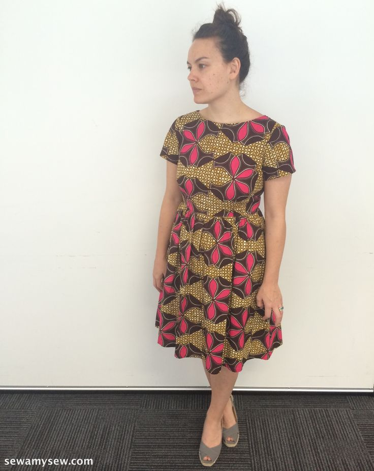 New Look 6262 in African wax print cotton