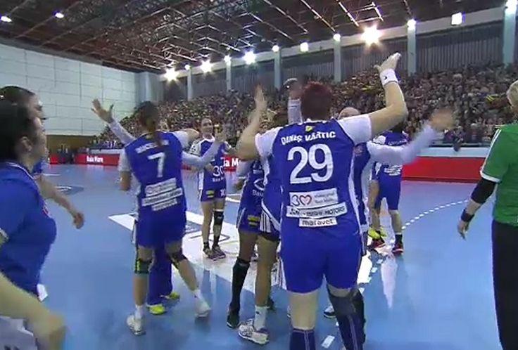 **VIDEO** HCM Baia Mare - Viborg 32-22. Performanţă istorică pentru gazde: calificare în sferturile Ligii