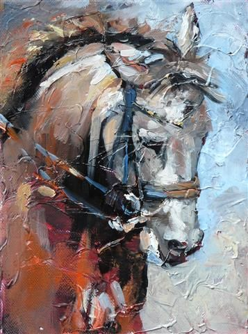 HORSES  Oil painting by Cath Driessen http://www.cathdriessen.nl/