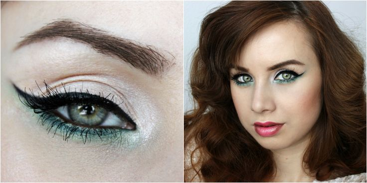 eyeliner green eyeshadow