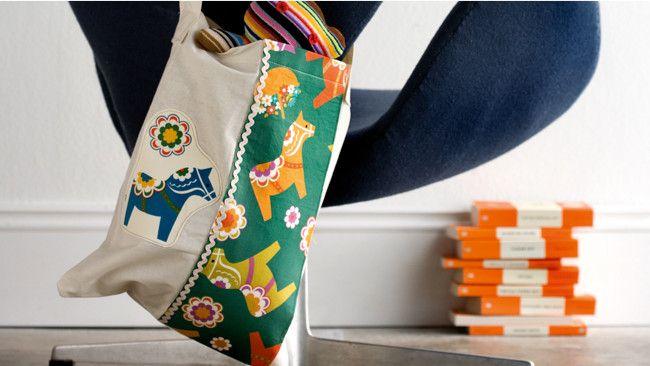 Sewing a book bag