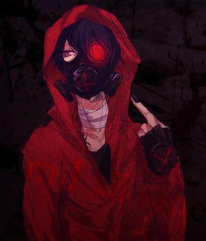 Anime/manga gas mask badass...