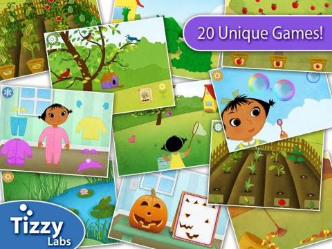 Discount: Tizzy Seasons HD is now 0.99$ (was 1.99$) - limited time offer. 5 sets of simple play activities related to each season of the year. All discounted apps for kids updated daily: http://www.appysmarts.com/publisher/news.php?age=0=0=0,5=0