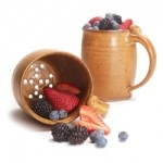 "Mug-Size Colander: For those who want their freshly rinsed berries ""to go,"" this ceramic mug-size colander is just the ticket. Stores neatly on the shelf with other cups. Just remember not to pour your coffee in it. $25 from www.isabellacatalog.com.: Pottery Ideas, Freshly Rinsed, Mug Size Colander, Goods Healthy Eating, Ceramic Ideas, Worthy Goods Healthy, Rinsed Berries, Ceramic Mug Size"