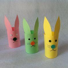 Lav søde kaniner ud af toiletruller.