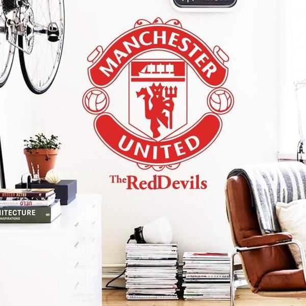 WALL STICKER REMOVABLE FOOTBALL CLUBS, MAN UNITED, JUVENTUS, BAYERN, CHELSEA FC CLUB DECALS