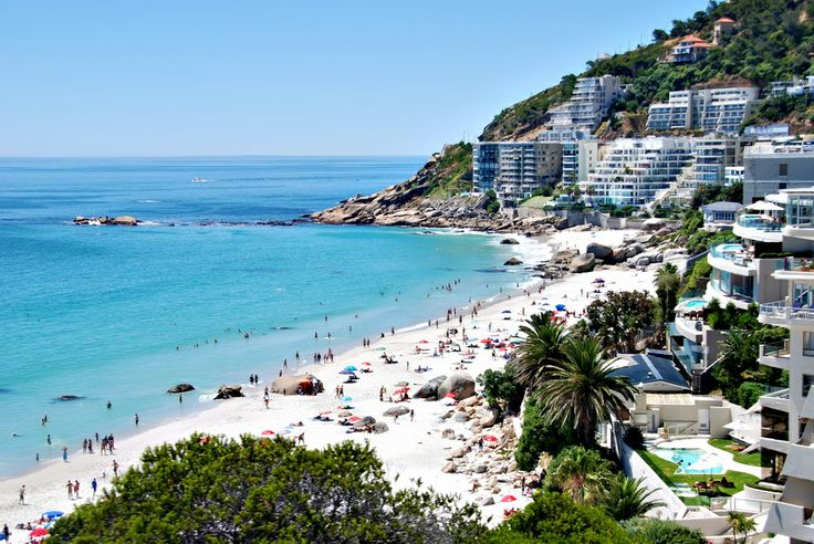 A view of Clifton Beach, Cape Town, South Africa.