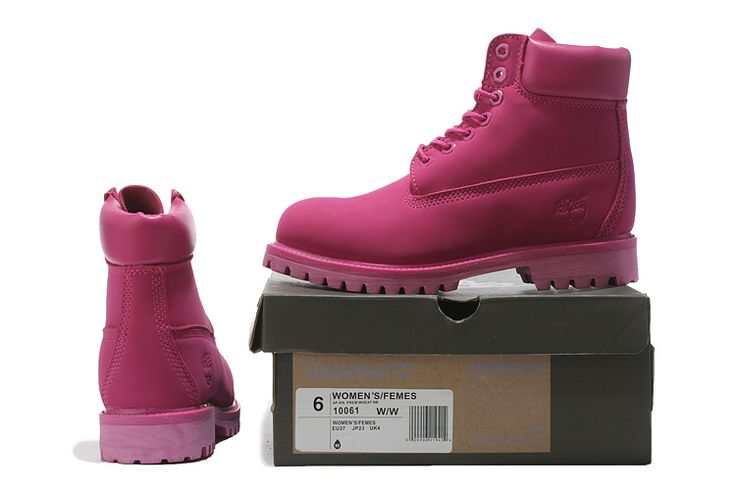 Dark Pink Women's Timberland 6 Inch Boots on Sale