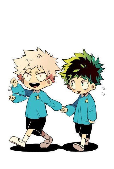 Cute Bakugou and Midoriya! Boku no Hero Academia... http