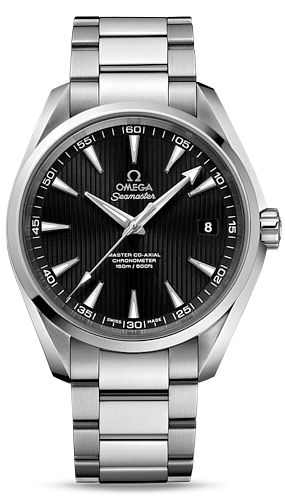 231.10.42.21.01.003  NEW OMEGA SEAMASTER AQUA TERRA MASTER CO-AXIAL 41.5MM MENS LUXURY WATCH    Usually ships within 3 months - Click to view IN STOCK Specials  - FREE Overnight Shipping - No Sales Tax (Outside California)- With Manufacturer Serial Numbers- Black Dial- Date Feature  - Self Winding Automatic Caliber 8500 Co-Axial Chronometer Movement- 60 Hour Power Reserve- 5 Year Warranty- Guaranteed Authentic- Certificate of Authenticity- Manufacturer Box