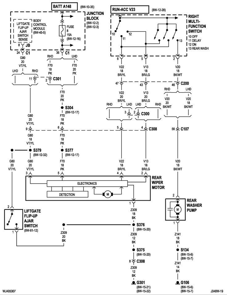 89 Jeep YJ Wiring Diagram | 89 Jeep Yj Wiper Diagram http ...