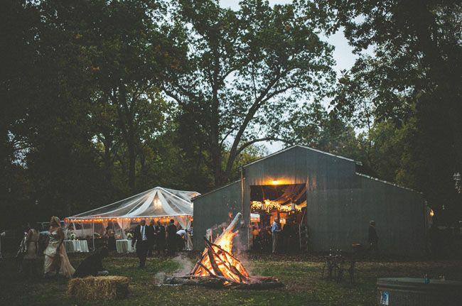 Backyard Bonfire Wedding : Backyard Barn Wedding in the Woods Lauren + Bud  Barn Weddings